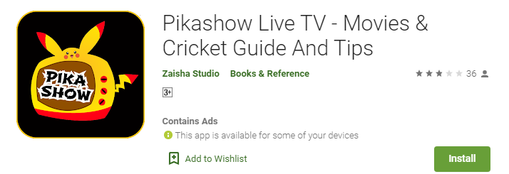 Download Pikashow App for PC